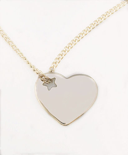 Gold Plated Star Heart Pendant