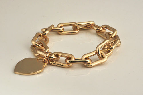 Gold Plated Square Chain Bracelet